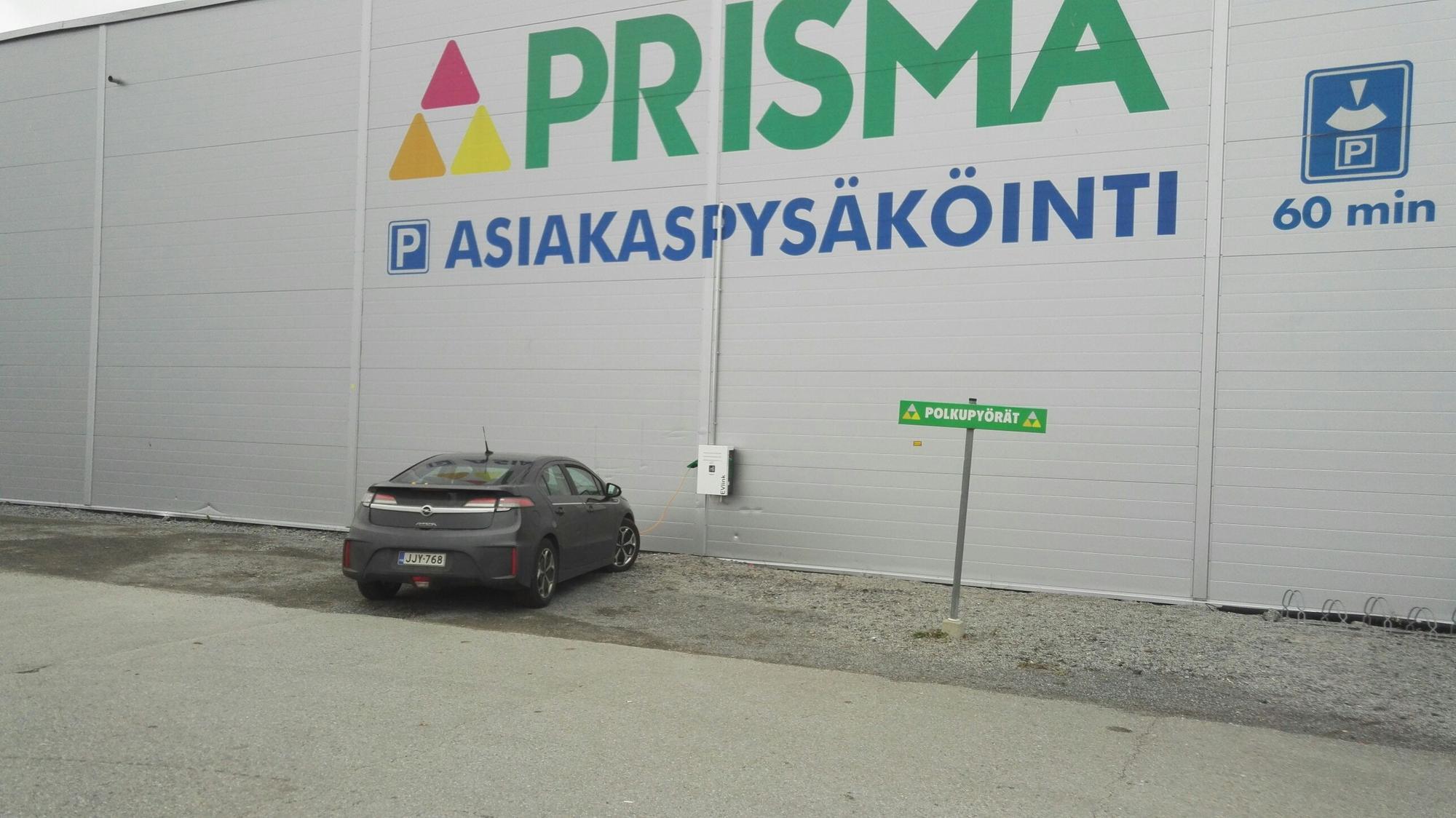 Ideapark Lempäälän latauspisteiden keskittymä
